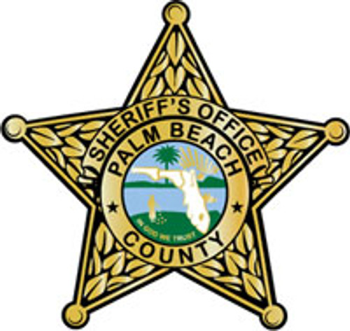 Palm Beach County Sheriff's Office Gold Star Plaque