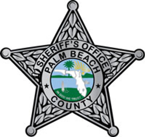 Palm Beach County Sheriff's Office Silver Star Plaque