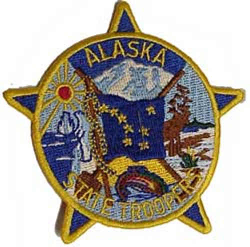 "Alaska State Trooper 3"" Patch"