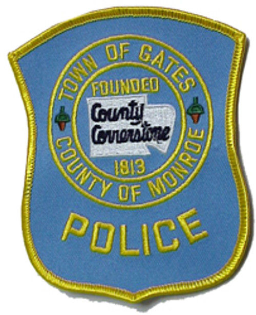 3 ''TOWN OF GATES POLICE PATCH COUNTY OF MONROE
