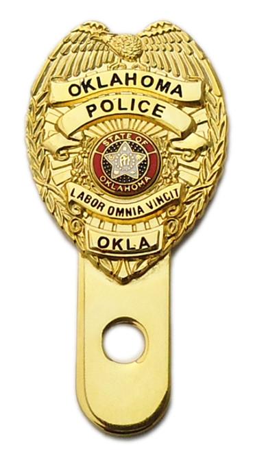 Oklahoma License Plate Medallion