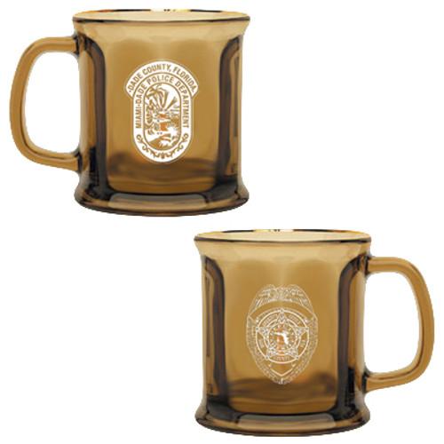 Miami-Dade Police Department Presidential Collection Bronze Glass Mug