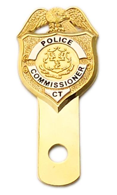 CT Police Commissioner License Plate Medallion