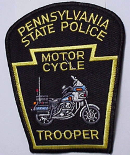 PENN. STATE POLICE MOTOR CYCLE TROOPER PATCH