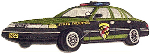 MD STATE TROOPER POLICE CRUISER PATCH