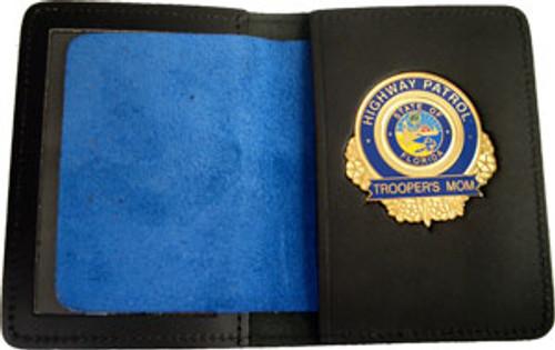 Florida Highway Patrol Trooper's Mom Gold Badge w/wallet