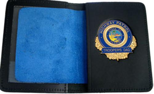 Florida Highway Patrol Trooper's Dad Gold Badge w/wallet