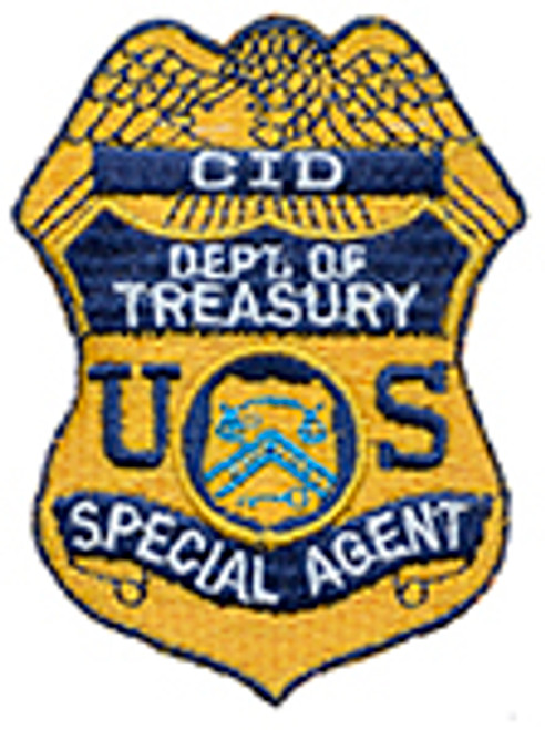 CID, DEPARTMENT OF TREASURY SPECIAL AGENT BADGE PATCH