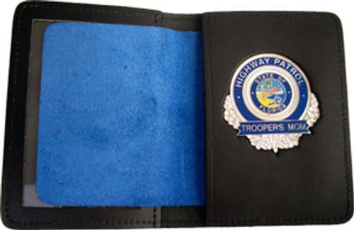 Florida Highway Patrol Trooper's Mom Silver Badge w/wallet