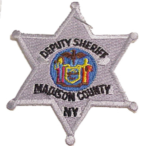 MADISON COUNTY DEPUTY SHERIFF BADGE PATCH, SILVER