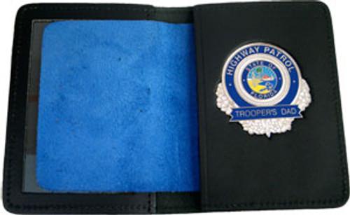 Florida Highway Patrol Trooper's Dad Silver Badge w/wallet