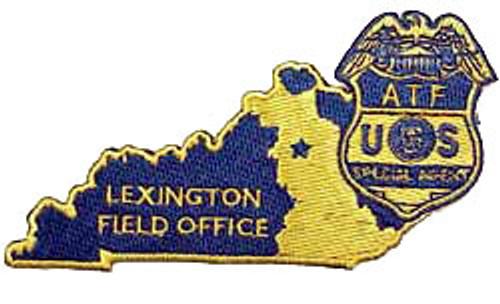 """ATF Lexington KY Field Office 4"""" Patch"""