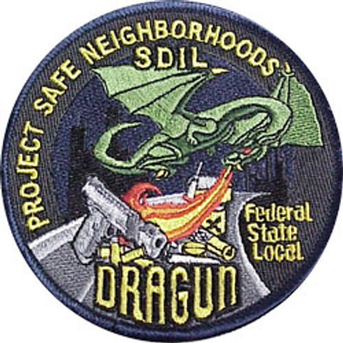 """US Attorney's Office, Southern Dist of Ill. DRAGUN 4"""" Patch"""