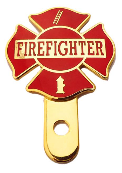 Firefighter Cross License Plate Medallion