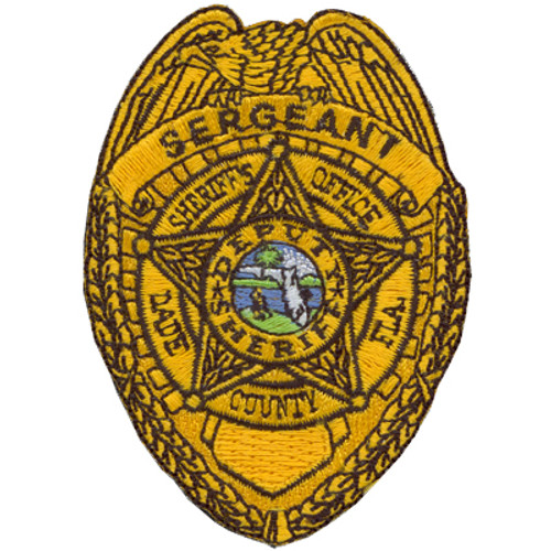Miami-Dade Sergeant Patch Gold