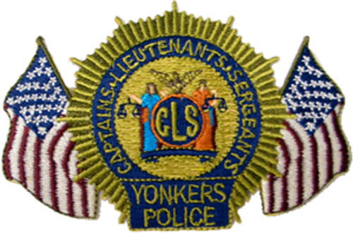 Yonkers Police CLS Patch with Flags