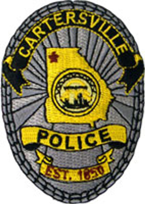 Cartersville Police Department Badge Patch