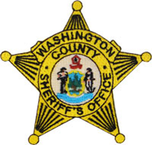 Washington County ME Sheriff's Office Gold Badge Patch