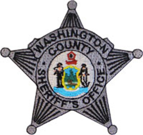 Washington County ME Sheriff's Office Silver Badge Patch