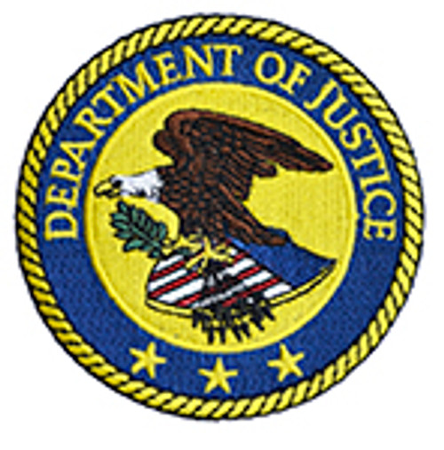 DEPARTMENT OF JUSTICE SEAL PATCH
