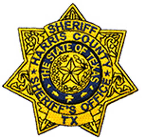 HARRIS COUNTY SHERIFF'S OFFICE TEXAS GOLD STAR PATCH
