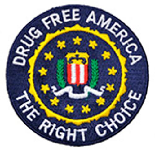 FBI DRUG FREE AMERICA PATCH