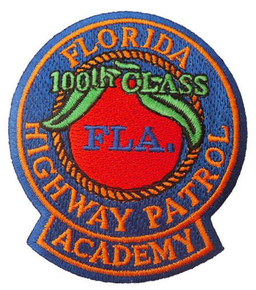 FHP Academy Patch 100th Class (small - orange trim)