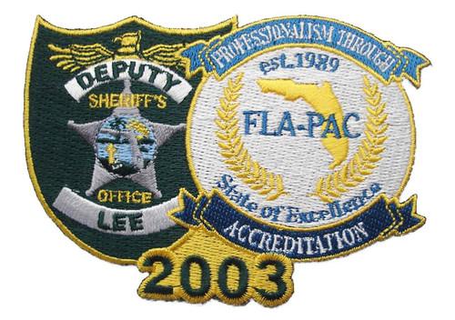 2003 Deputy Lee Sheriff's Office FLA-PAC Patch