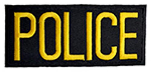 POLICE PATCH, BLACK