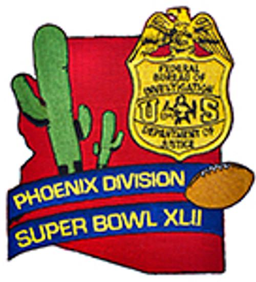 FBI  Super Bowl XLII Patch