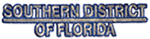 SOUTHERN DISTRICT OF FLORIDA, SLIVER