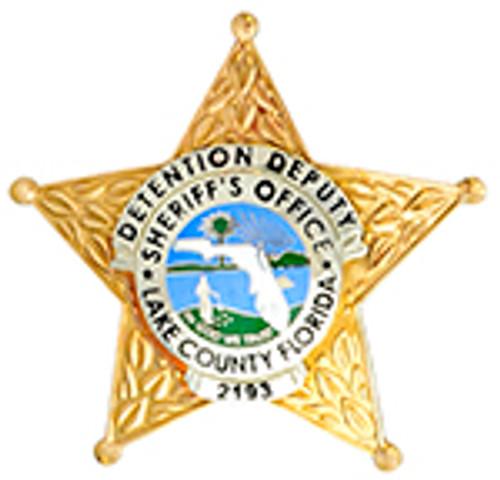 LAKE COUNTY FLORIDA SHERIFF'S OFFICE DETENTION DEPUTY BADGE (2193)