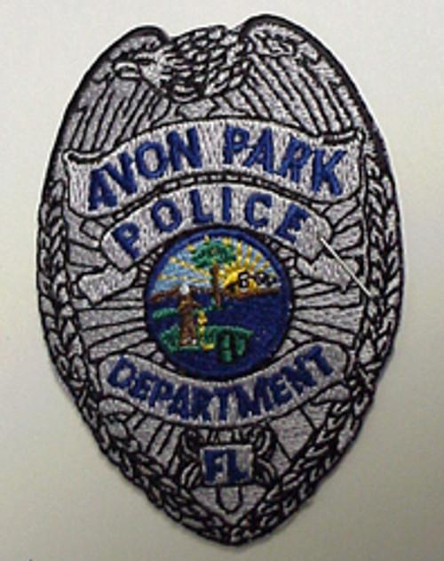 Silver Avon Park Florida Police Patch