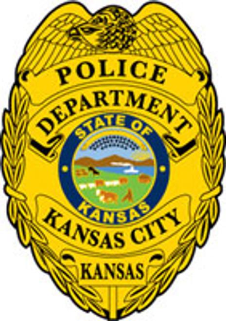 Kansas City Kansas PD Gold Badge Patch