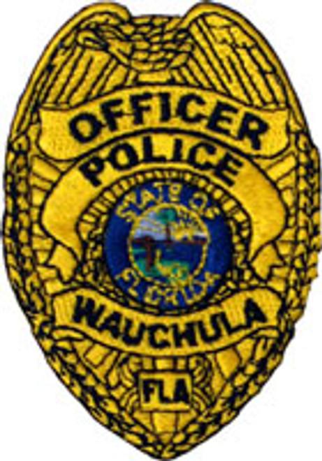 "Wauchula Police Badge Patch 3"""