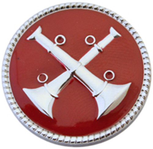 2 - Crossed Bugle (Nickel-Red)