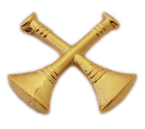 2 Crossed Trumpets (Gold)