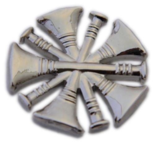 5 CROSSED TRUMPETS Nickel