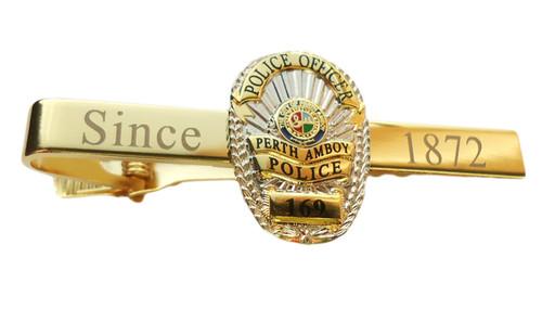 NJ Perth Amboy Police Two Tone Tie Bar