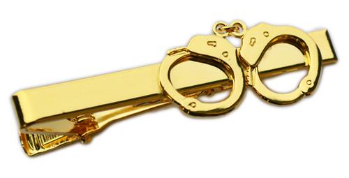Handcuffs Tie Bar (Gold)