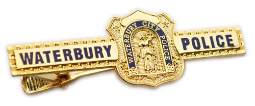 Waterbury City Police Badge Tie Bar (Gold)