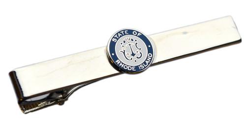 Rhode Island State Seal Tie Bar (Nickel)