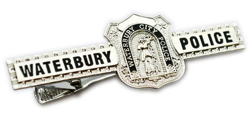 Waterbury City Police Badge Tie Bar (Nickel)