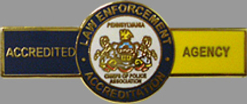 PA Chiefs of Police Accreditation Small Award Bar