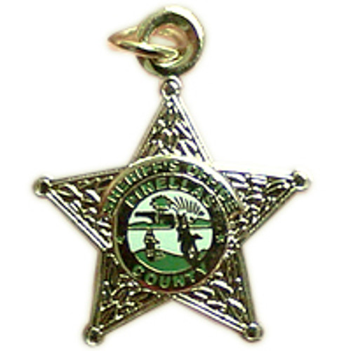 Pinellas County Sheriff's Office Silver Star Charm