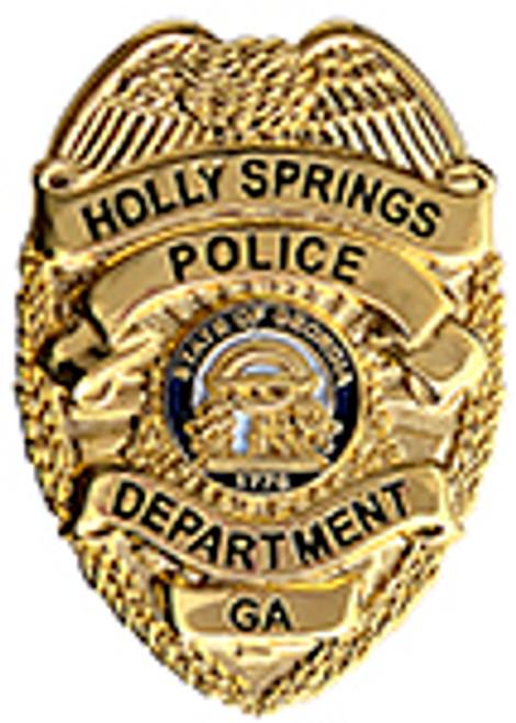 HOLLY SPRINGS GEORGIA POLICE BADGE LAPEL PIN