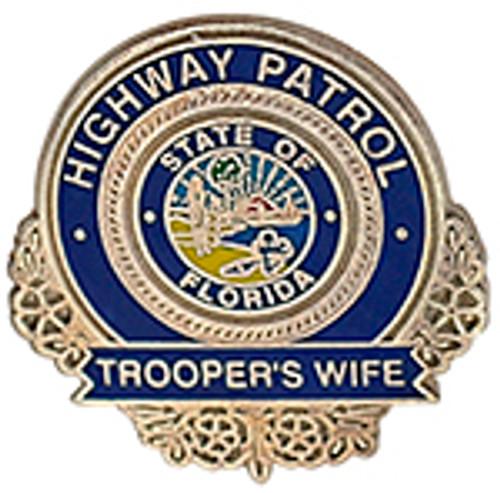 FLORIDA HIGHWAY PATROL TROOPER'S WIFE LAPEL PIN