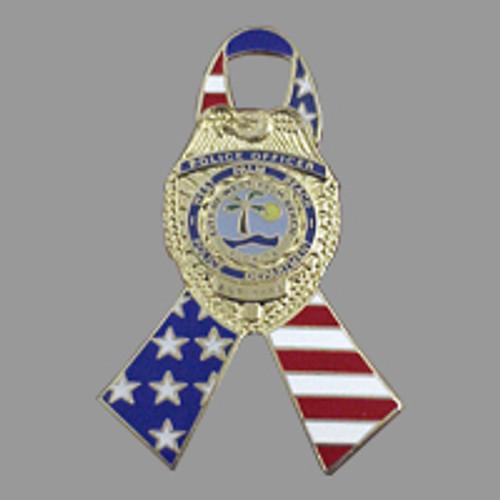 West Palm Beach Police Badge Ribbon Pin