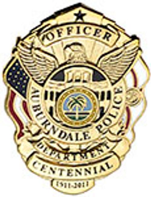 AUBURNDALE POLICE BADGE LAPEL PIN