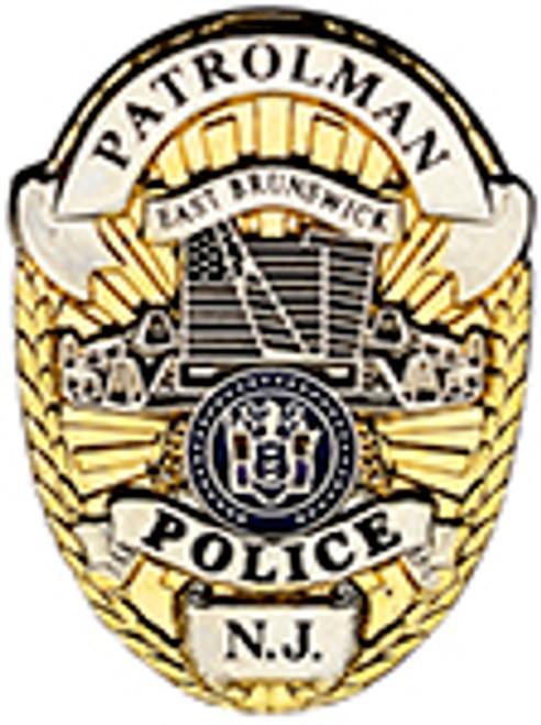 East Brunswick, NJ Police Lapel Pin: Patrolman